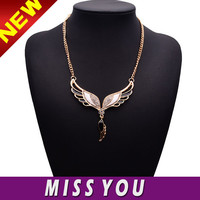 angel wing pendant gold plated wing necklace in china