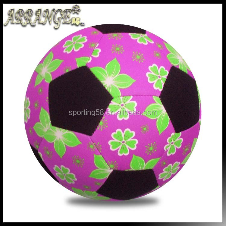 soft touch Officia size 5 ACFB0043P5200 light pink color SBR neoprene beach soccer ball