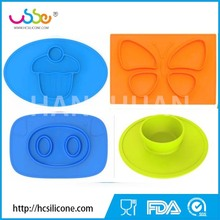 USSE Silicone Baby Food Placemat +Bowl Divided Plate for Infants Toddlers Kids Children BPA BPS PVC Lead Free
