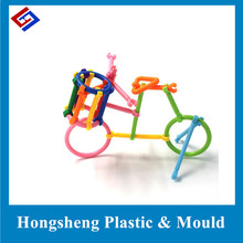 plastic assembling toy for kids custom made by injection factory