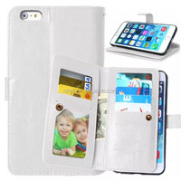 High Quality Sublimation Flip Leather phone case cover for iphone 6/6s