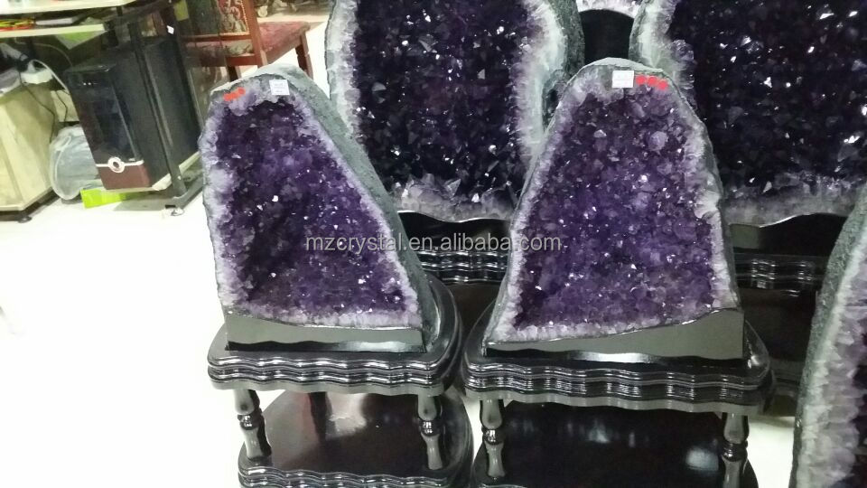 Small Natural Quartz Crystal Amethyst Geodes for craft