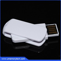 Simple style swivel usb white color swivel usb flash drives custom plastic swivel usb pormo