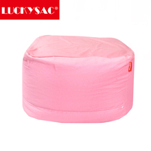 2017 New Cheap Indoor Bean Bags for Lazy Life Bean Bag Sofa Adults Square Bean Bag with Pink Cover Only