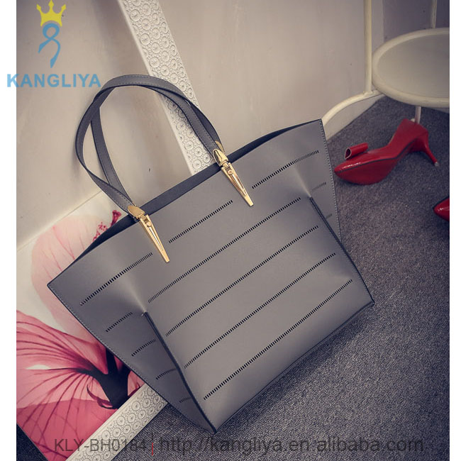 Ladies big size tote hollow bags women handbag with inner little shoulder bag