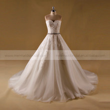 Elegant Alibaba Boob Tube Top Guipure Lace Wedding Dress