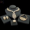 YULAILI High Quality Popular Italian Bridal 18k Gold Plated Jewelry Sets