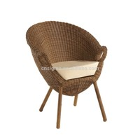 New Arrival Outdoor Garden Rattan Ergonomic Round plastic patio chairs