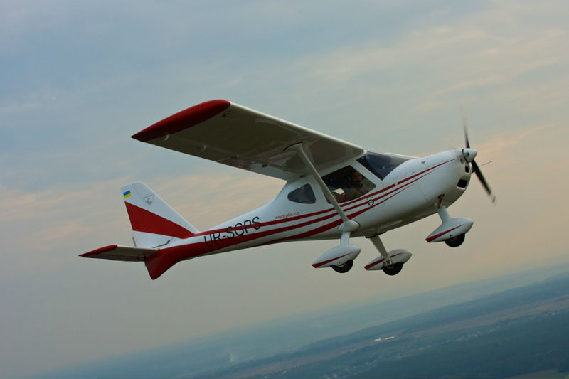 Light two-seat single-engine plane,aircraft
