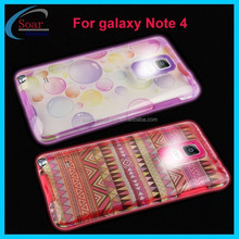 Incoming call flash design led case cover with PC hard back case & Luminous soft bumper frame case for Samsung galaxy Note 4