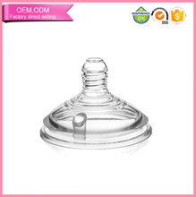 Custom Peristalic Silicone Teat Baby Feeding Bottle Nipple with Wide Mouth