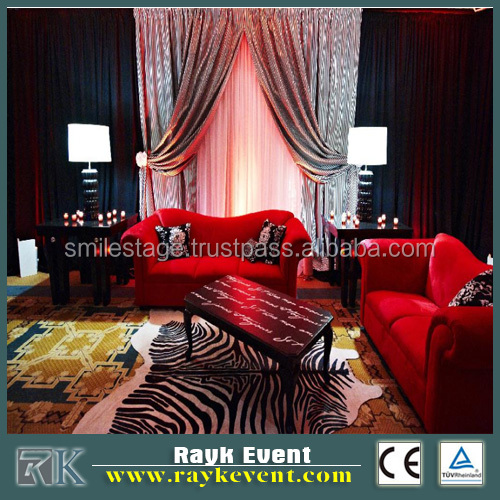 Telescopic pipe and drape portable pipe and drape system for wedding tent