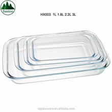 Hot Sales Microwavable Pyrex Rectangular Glass Baking Dishes