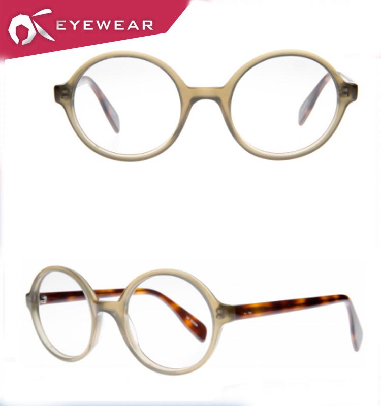 일본어 디자인 패션 인기 라운드 아세테이트 ODM OEM 안경 프레임