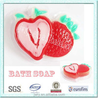 Cute 80G strawberry shape kids foam soap