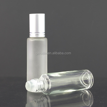 1ml 3ml 5ml 10ml 5ml glass roll on bottles with stainless steel roller ball, roller ball bottle for essential oils