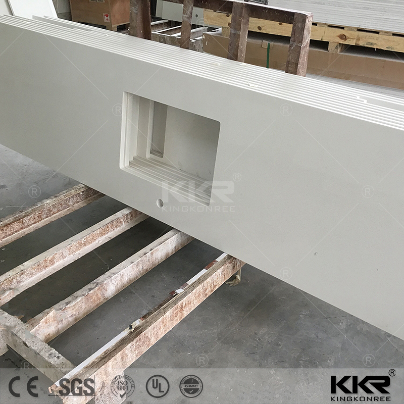 China solid surface prefabricated bar countertops