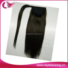 Wholelsae 5A grade virgin weaving 100% human hair ponytail hairpiece