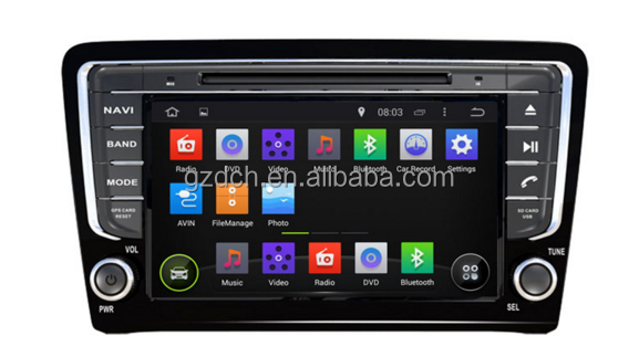 5.1 android car dvd player for VW SANTANA 2013 1024*600 quad core 1G+16G WS-9260