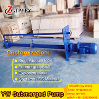 YW series sump submersible sewage pump for waste water vertical underwater sewage pump for sludge