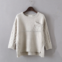 2015 new arrival korean style latest design ladies sweater