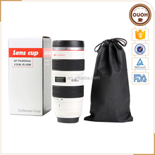 18oz Big White Camera Lens Shaped Stainless Steel Lining Travel Mug Wholesale