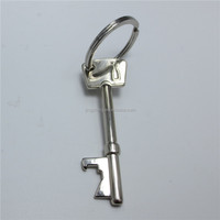 Creative Key Shape Bottle Opener Metal Key Chain Key Rings Keychains