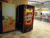 french fries vending machine with transparent lcd display