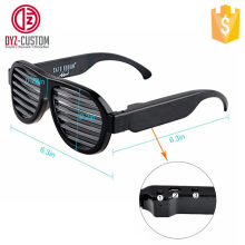 New Design Sound Activated LED shutter shade sunglasses Glow In The Dark Glasses