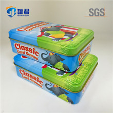 direct factory rectangle metal game cards packing tin box