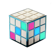 mini cubic bluetooth tower speaker with led light
