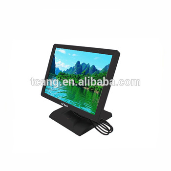 High quality 15 inch touch screen LED monitor for fast food business
