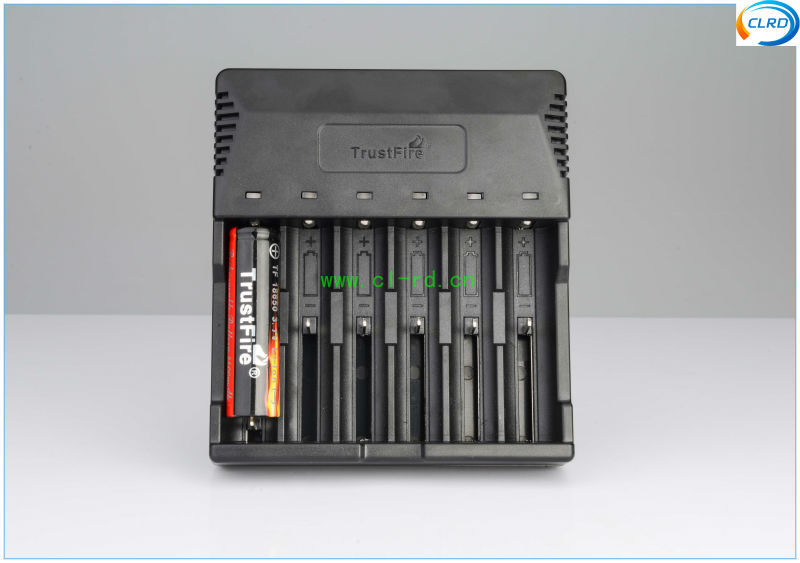 6 bay Li-ion Ni-mh rechargeable battery charger new arrival