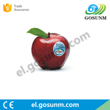 China waterproof washable recycled food label fruit Paper Sticker