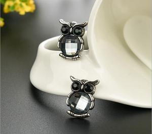 1 PC antique crystal owl brooches brooch pins for men women fashion jewelry  new design cute 32f2f58dffde
