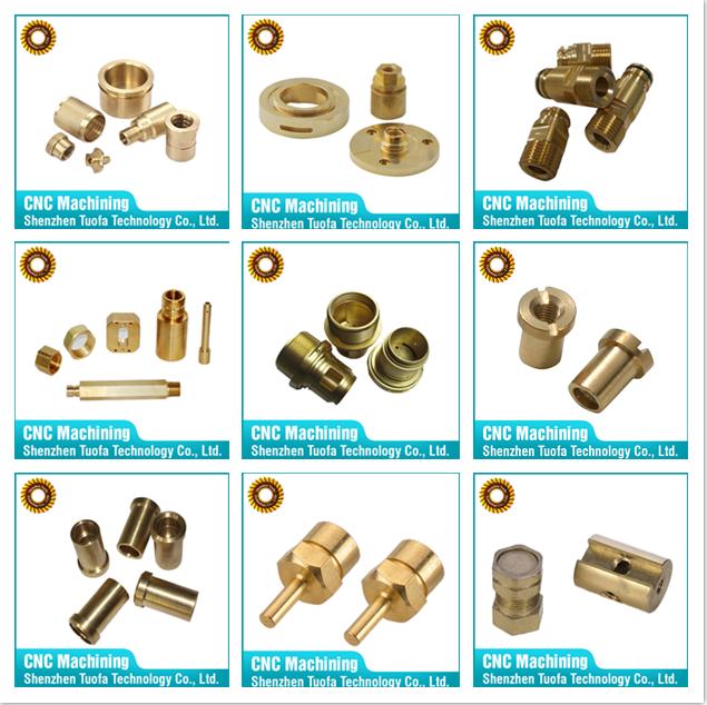 Custom cnc machined parts brass copper ferrule fittings