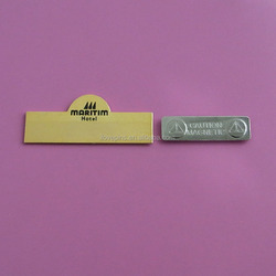 gold plated blank engravable name plate for waiter