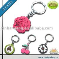 custom promotional soft pvc Key Chain, key tag, key ring
