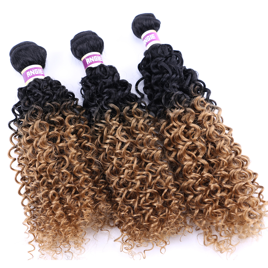 Best Synthetic Weave Hair Ombre Afro Kinky Curly Crochet Hair