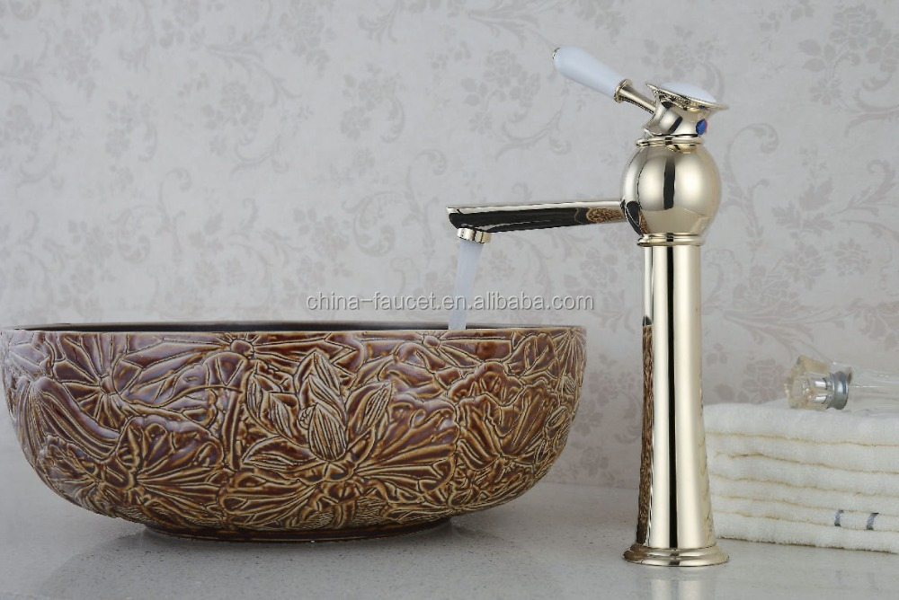 luxury contemporary golde fashional items brass basin faucet, basin mixer