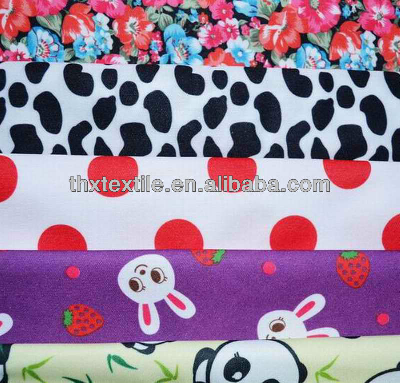 2014 New Arrival China Waterproof and Breathable Wholesale Printed PUL Fabric Polyester Fabric