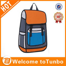 3D cartoon lifelike exaggerate school shoulder bag backpack/ wholesale 3d comic Cartoons bag for youth