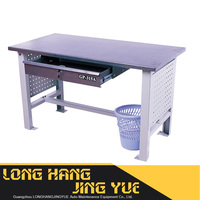 Metal work bench tool storage steel frame tool workshop table with drawers,workbench trolley