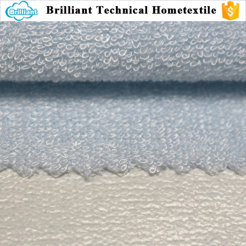 high quality bamboo polyester terry cloth bed sheet fabric