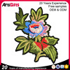 High quality custom flower embroidery patch