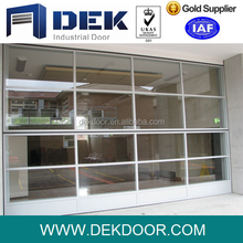 glass 100% bi fold garage doors vertical