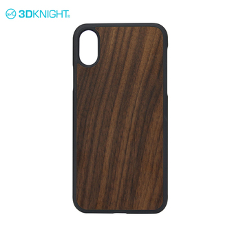 3D Knight Natural wood high quality for iphone X hard wood case