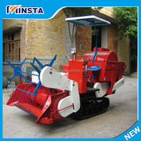 high effeciency combine walking tractor rice maize harvester with low price