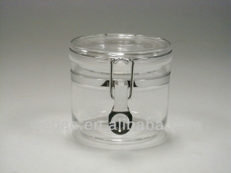 Lock Clear acrylic containers To Storage