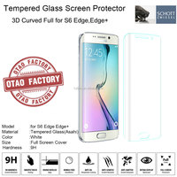 2015 Most Popular 9H high clear 3D Cuvred Screen Protector for samsung s6 edge tempered glass screen protector transaparency